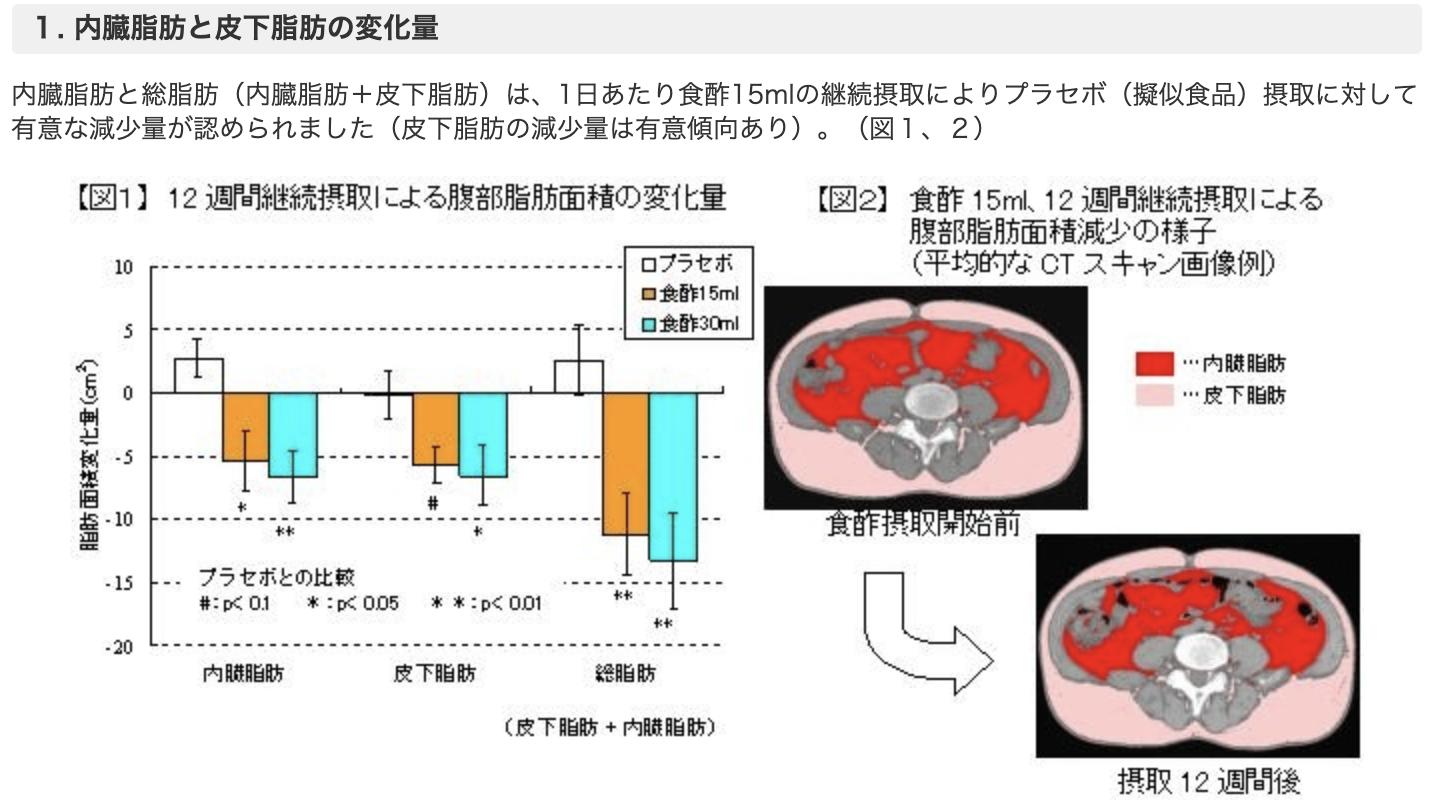 ミツカン 内臓脂肪 臨床試験