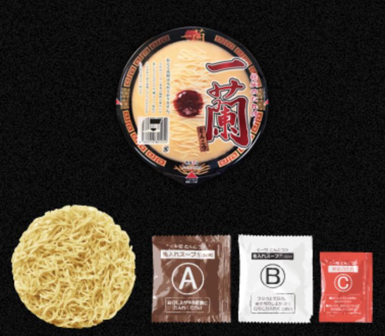 一蘭カップラーメン麺
