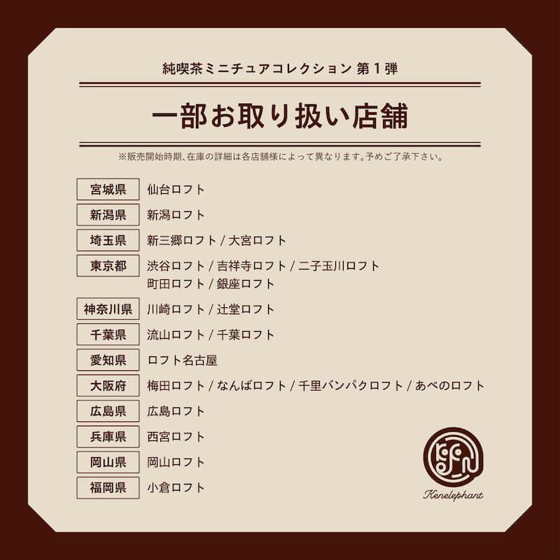純喫茶 ミニチュアコレクション販売店舗 vol.1