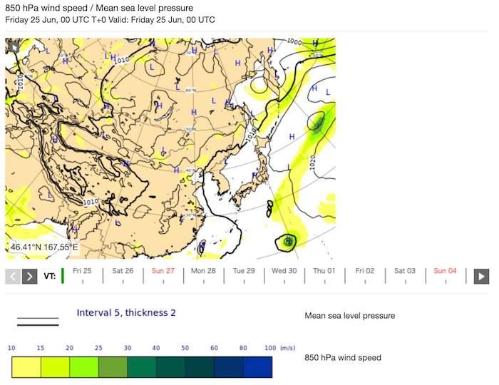 台風6号2021(インファ)のたまご進路予想!米軍やヨーロッパ等の情報2