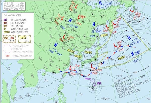 台風6号2021(インファ)のたまご進路予想!米軍やヨーロッパ等の情報