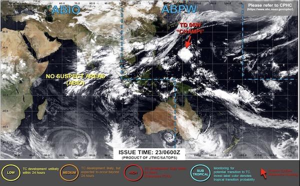 台風5号2021米軍進路予想図チャンパー